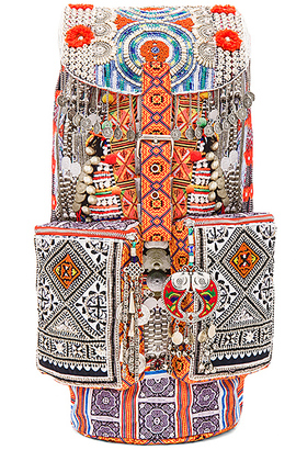Camilla Embroidered Backpack in Orange. $300 thestylecure.com