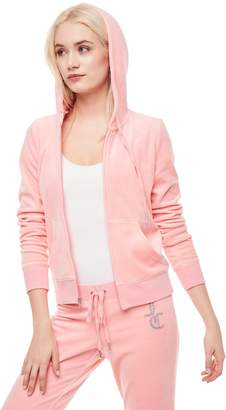 Juicy Couture Jc Luxe Crystals Velour Robertson Jacket