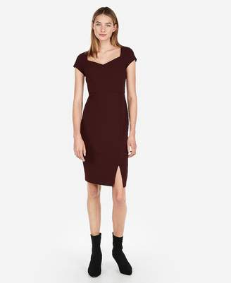 Express Sweetheart Neckline Midi Sheath Dress