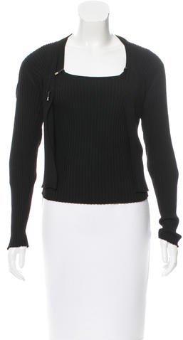 pradaPrada Wool Rib Knit Cardigan Set
