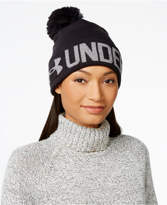 Under Armour Graphic Pom Pom Beanie $24.99 thestylecure.com