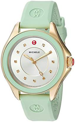 Michele Women's 'Cape' Quartz Stainless Steel and Silicone Dress Watch