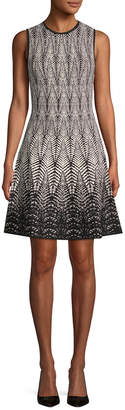 Ronny Kobo Print Fit-And-Flare Dress