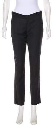 Helmut Lang Wool Mid-Rise Skinny Pants Black Wool Mid-Rise Skinny Pants