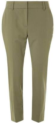 Dorothy Perkins Womens Khaki Split Hem Ankle Grazer Trousers