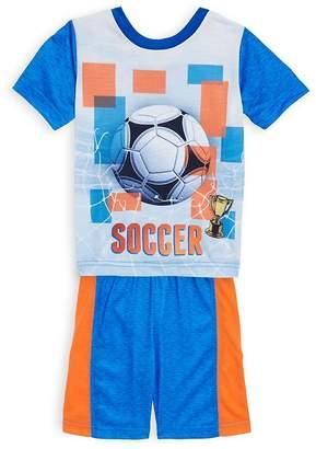 Petit Lem Little Boy's Two-Piece Soccer Tee and Shorts Set