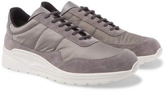 Common Projects Cross Trainer Suede, Nylon and Leather Sneakers - Men - Gray