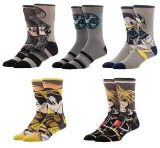 License Men's Kingdom Hearts Crew Socks 5-Pack