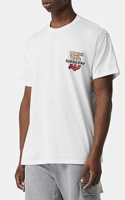 Burberry Men's Monogram & Logo Cotton T-Shirt - White
