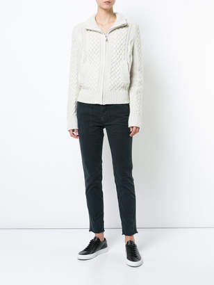Nili Lotan cable knit zipped cardigan