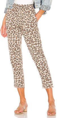 Monrow Leopard Fray Patch Pockets Pant