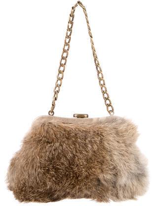 MICHAEL Michael KorsMichael Kors Rabbit Fur Demi Malibu Bag