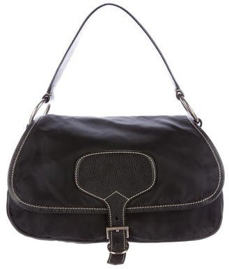 pradaPrada Leather & Tessuto Handle Bag