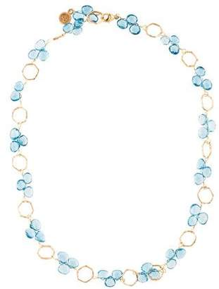 Dominique Cohen 18K Topaz Collar Necklace