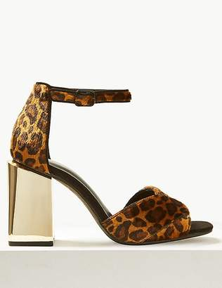 Marks and Spencer Wide Fit Animal Print Statement Heel Sandals