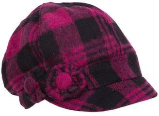 Magid Plaid Check Jockey Cap