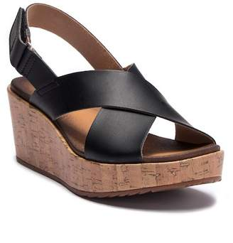 Clarks Stasha Hale Leather Wedge Sandal - Wide Width Available