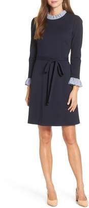 1901 Long Sleeve Ruffle Detail Shirtdress