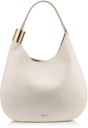 Jimmy Choo STEVIE Chalk Nappa Leather Shoulder Bag