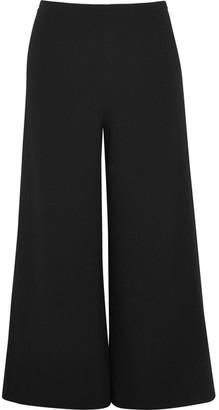 Co - Cropped Crepe Wide-leg Pants - Black $625 thestylecure.com