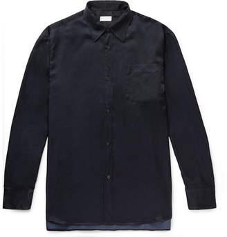 Dries Van Noten Cliff Oversized Cotton-Blend Satin-Twill Shirt