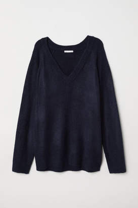 H&M V-neck Sweater - Blue