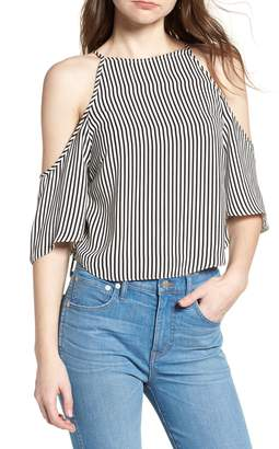 Bishop + Young BISHOP AND YOUNG Ava Stripe Cold Shoulder Top