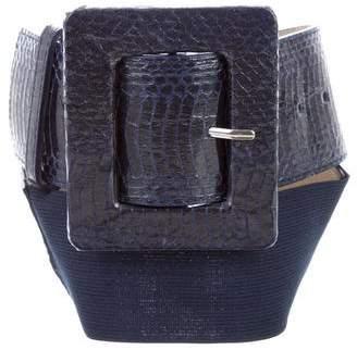 Alice + Olivia Embossed Leather Belt