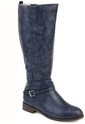 Journee Collection Womens Jc Ivie Stacked Heel Zip Riding Boots