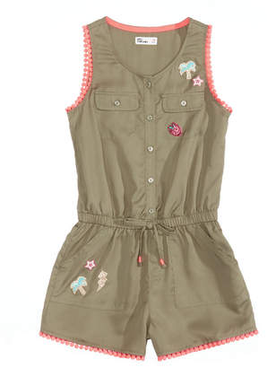 Epic Threads Button-Down Romper, Big Girls, Created for Macy's