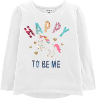 Carter's Toddler Girl Sequined Graphic Tee