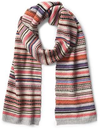 Gap Crazy fair isle scarf