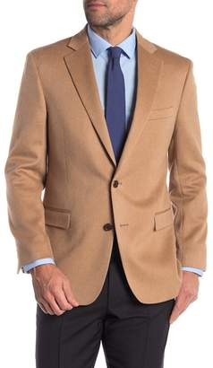 Brooks Brothers Beige Genuine Camel Hair Two Button Notch Lapel Classic Fit Sport Coat