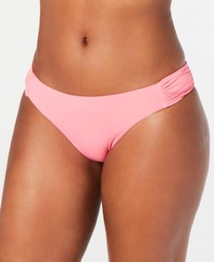 Bar III Sunset Solids Side-Shirred Hipster Bikini Bottoms, Created for Macy's Women's Swimsuit