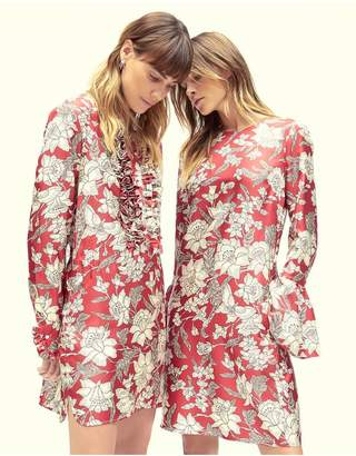 La Doublej Lilium Silk Tuxedo Mini Dress