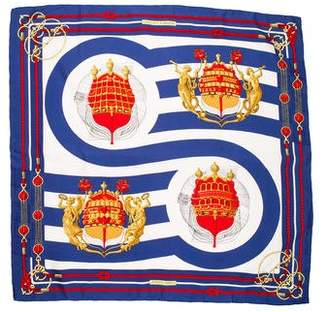 Hermes Chateaux d'Arriere Silk Scarf
