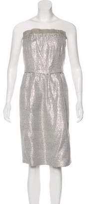 Marc Jacobs Strapless Metallic Dress Silver Strapless Metallic Dress