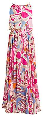 Emilio Pucci Women's Silk Chiffon Halter Maxi Dress