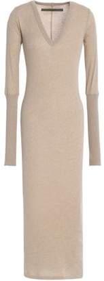 Enza Costa Slub Cotton And Cashmere-Blend Midi Dress