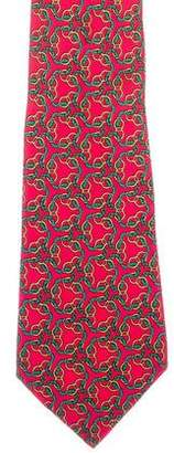 Hermes Chain-Link Silk Tie