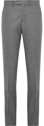 Privee SALLE Grey Rocco Slim-Fit Mélange Wool-Flannel Suit Trousers