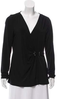 MICHAEL Michael Kors Long Sleeve V-Neck Top w/ Tags