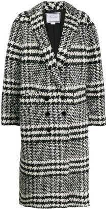 Redemption checked double-breasted coat