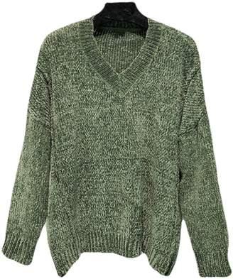 Goodnight Macaroon 'Jenna' V-Neck Chenille Ribbed Oversized Sweater (2 Colors)