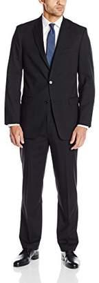 Tommy Hilfiger Men's Shadow Stripe 2 Button Side Vent Trim Fit Suit