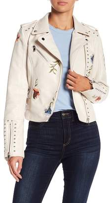 Romeo & Juliet Couture Studded & Embroidered Faux Leather Jacket