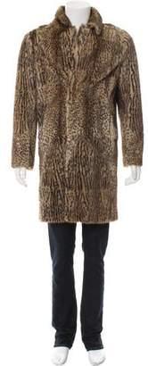 Saint Laurent 2014 Ocelot Print Fur Coat
