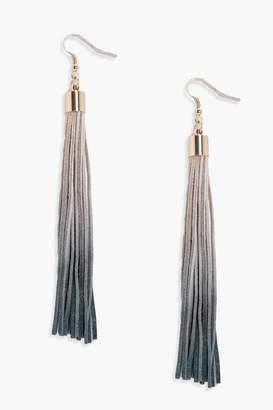 boohoo Ombre Tassel Earrings