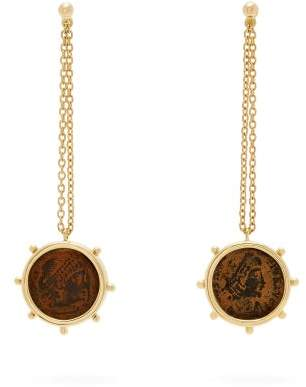 Dubini - Constantine 18kt Gold Coin Earrings - Womens - Bronze