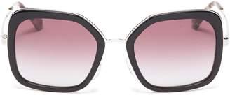 Prada Acetate rim metal square sunglasses